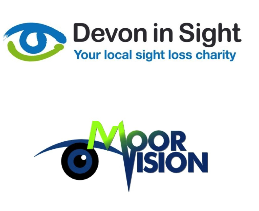 Image is The Devon in Sight logo on top of the MoorVision logo