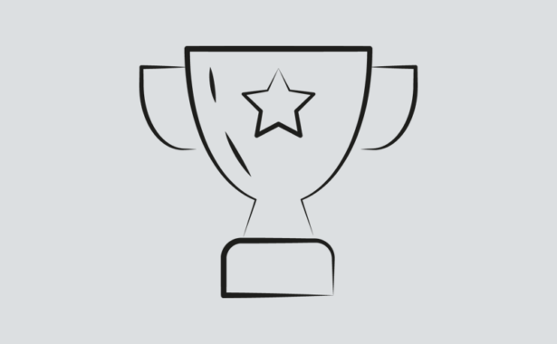 Image is a drawing of a trophy