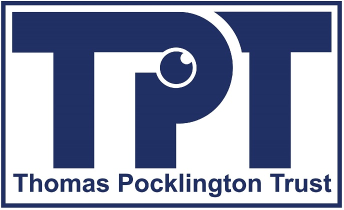 Image is Thomas Pocklington Trust logo
