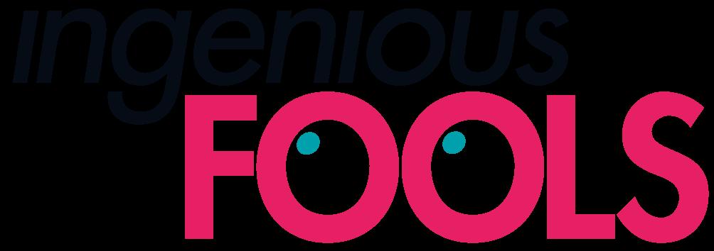 Image is the Indenious Fools Logo - the company hosing Angela De Castro